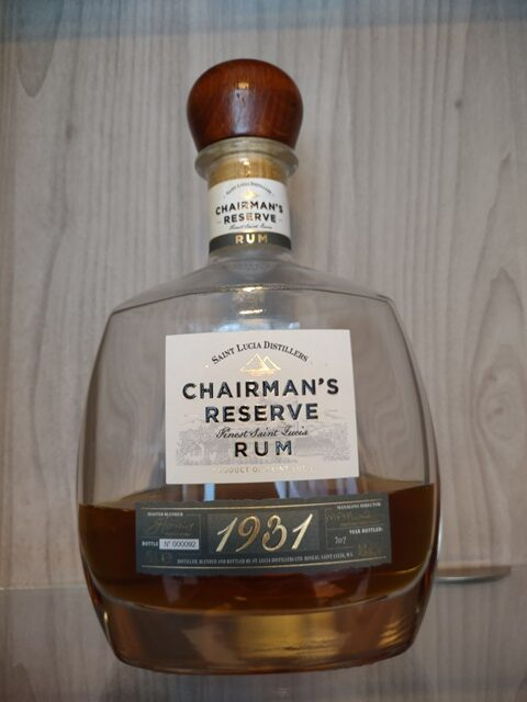 Rum Chairman's Reserve 1931